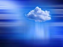 背景云彩计算技术 皇族释放例证
