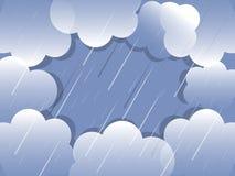 背景云彩雨向量 库存图片