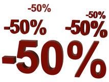 背景五十百分比 免版税库存照片