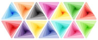 背景五颜六色几何 库存照片
