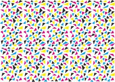 背景五颜六色的三角 向量例证