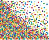 背景五颜六色的五彩纸屑 向量例证