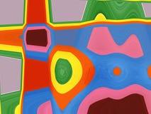 背景五颜六色的分数维 免版税库存图片