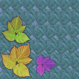 背景五颜六色的叶子 库存照片