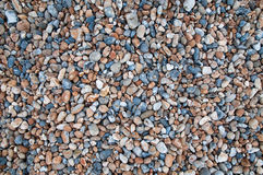 背景五颜六色的小卵石 库存照片