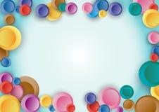 背景五颜六色的小点 免版税图库摄影