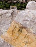 背景五颜六色的岩石 库存照片