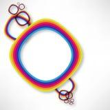 背景五颜六色的彩虹 图库摄影