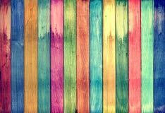 背景五颜六色的木头 库存照片