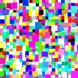 背景五颜六色的正方形 图库摄影