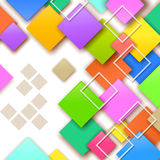 背景五颜六色的正方形 库存图片
