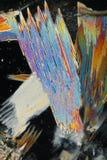 背景五颜六色的水晶冰 库存照片