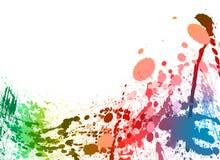 背景五颜六色的油漆飞溅 库存图片