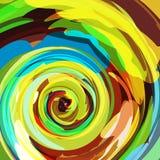 背景五颜六色的漩涡 库存图片