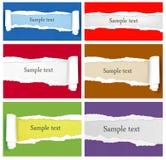 背景五颜六色的纸张被剥去的集 库存例证