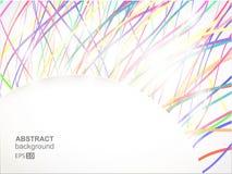 背景五颜六色的线路亮光 免版税库存图片