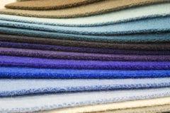 背景五颜六色的织品 免版税库存照片