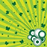 背景五颜六色的绿色 向量例证