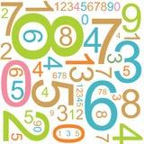 背景五颜六色的编号 免版税库存照片