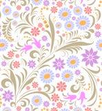背景五颜六色的花白色 免版税库存照片