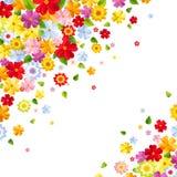背景五颜六色的花 也corel凹道例证向量 免版税图库摄影