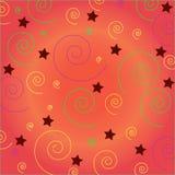 背景五颜六色的螺旋和星 图库摄影