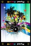 背景五颜六色的迪斯科舞厅传单 免版税图库摄影