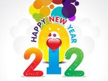 背景五颜六色的重点新年度 免版税库存照片