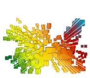 背景五颜六色的长方形 图库摄影
