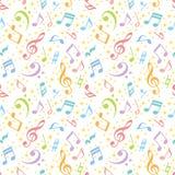 背景五颜六色的音乐附注 库存图片