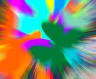 背景五颜六色的飞溅 库存图片