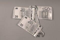 背景五颜六色的货币欧洲欧洲 免版税库存照片