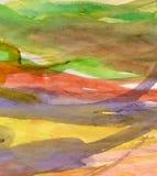 背景五颜六色的水彩 库存照片