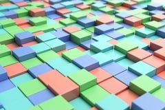 背景五颜六色立方体 库存图片