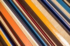 背景五颜六色镶边 对角条纹样式 摘要 免版税图库摄影