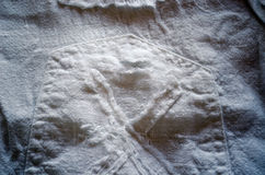 背景亚麻制裤子矿穴空白线程数 库存照片