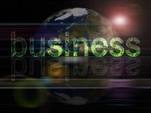 背景企业全球系列 库存例证