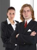 背景企业夫妇灰色 免版税库存图片