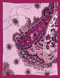背景佩兹利紫色 免版税库存图片
