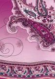 背景佩兹利紫色 免版税图库摄影