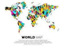背景例证查出的映射向量白色世界 免版税图库摄影
