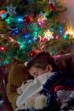 背景儿童圣诞老人虚拟等待 免版税库存图片