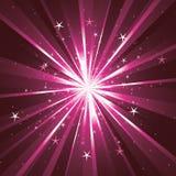 背景光线星形 免版税库存照片