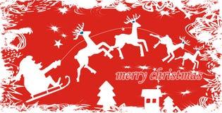 背景克劳斯・圣诞老人 向量例证