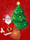 背景克劳斯・圣诞老人 免版税库存图片