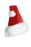 背景克劳斯・帽子查出的圣诞老人白&# 免版税库存照片