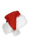 背景克劳斯・帽子查出的圣诞老人白&# 免版税库存图片