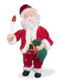 背景克劳斯图象圣诞老人向量白色 免版税库存图片