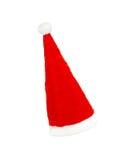 背景克劳斯帽子红色圣诞老人白色 库存照片