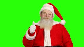 背景克劳斯绿色圣诞老人 股票视频